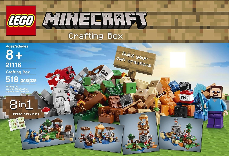 Amazon Lego Minecraft 21116 Crafting Box Toys Games