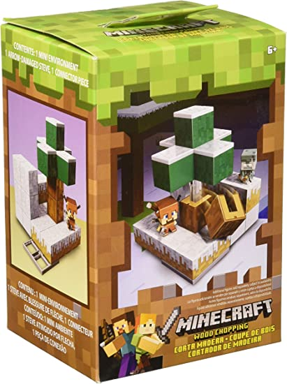 Mattel Minecraft Environmental Play sets Set of 2 Igloo Ignition /& Wood Chopping