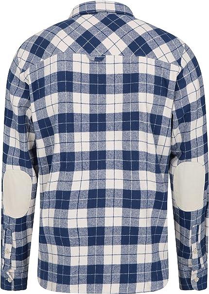 Mountain Warehouse Camiseta de Franela Lumberjack para Hombre - Manga Larga, con Botones, Ligera y de fácil Cuidado - para Senderismo y Viajes Carbón XXX-Large: Amazon.es: Ropa y accesorios