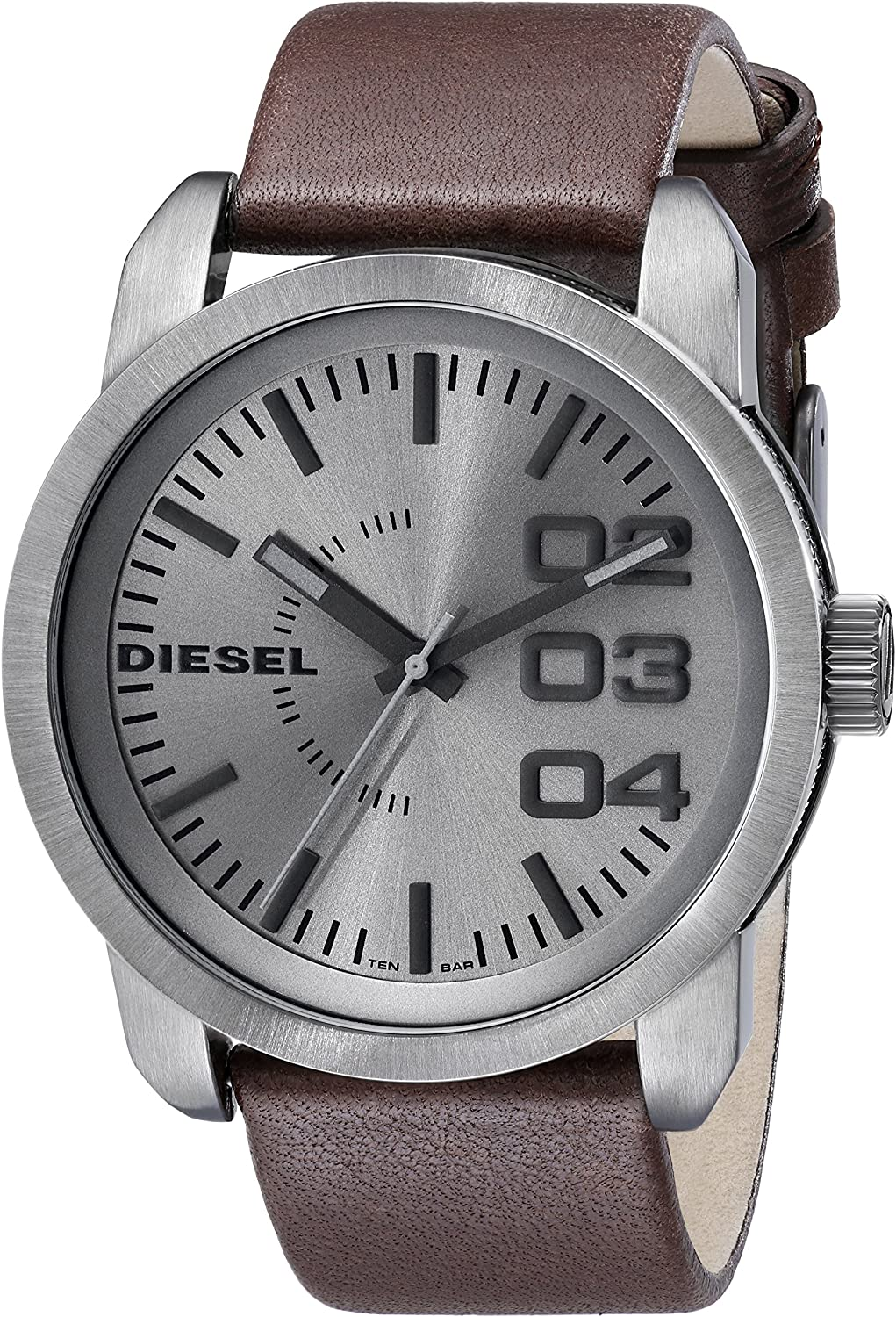 Diesel Men s DZ1467 Double Down Analog Display Analog Quartz Brown Watch