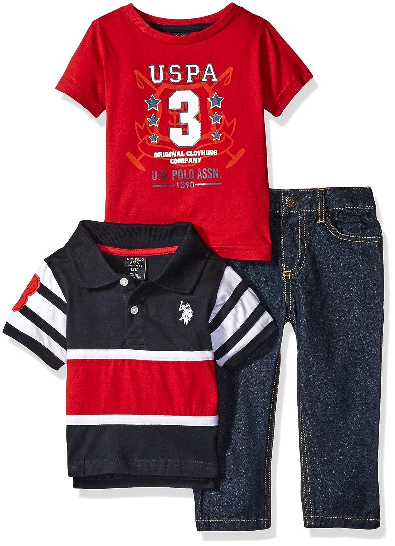 66a72ea85 Amazon.com  U.S. Polo Assn. Baby Boys   Striped Shirt