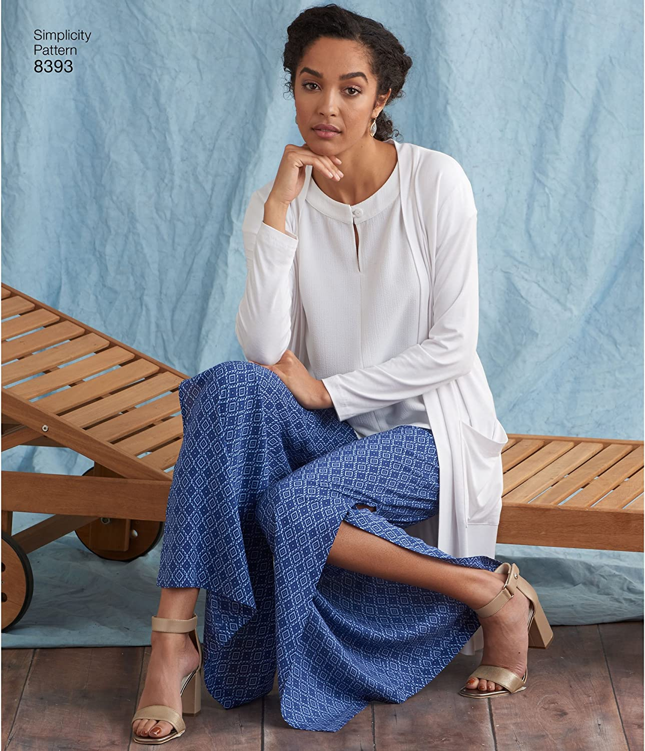 Tunic or Top /& Knit Cardigan Pattern 10-12-14-16-18 AA Simplicity Creative Patterns US8393AA Misses /& Plus Size Pants