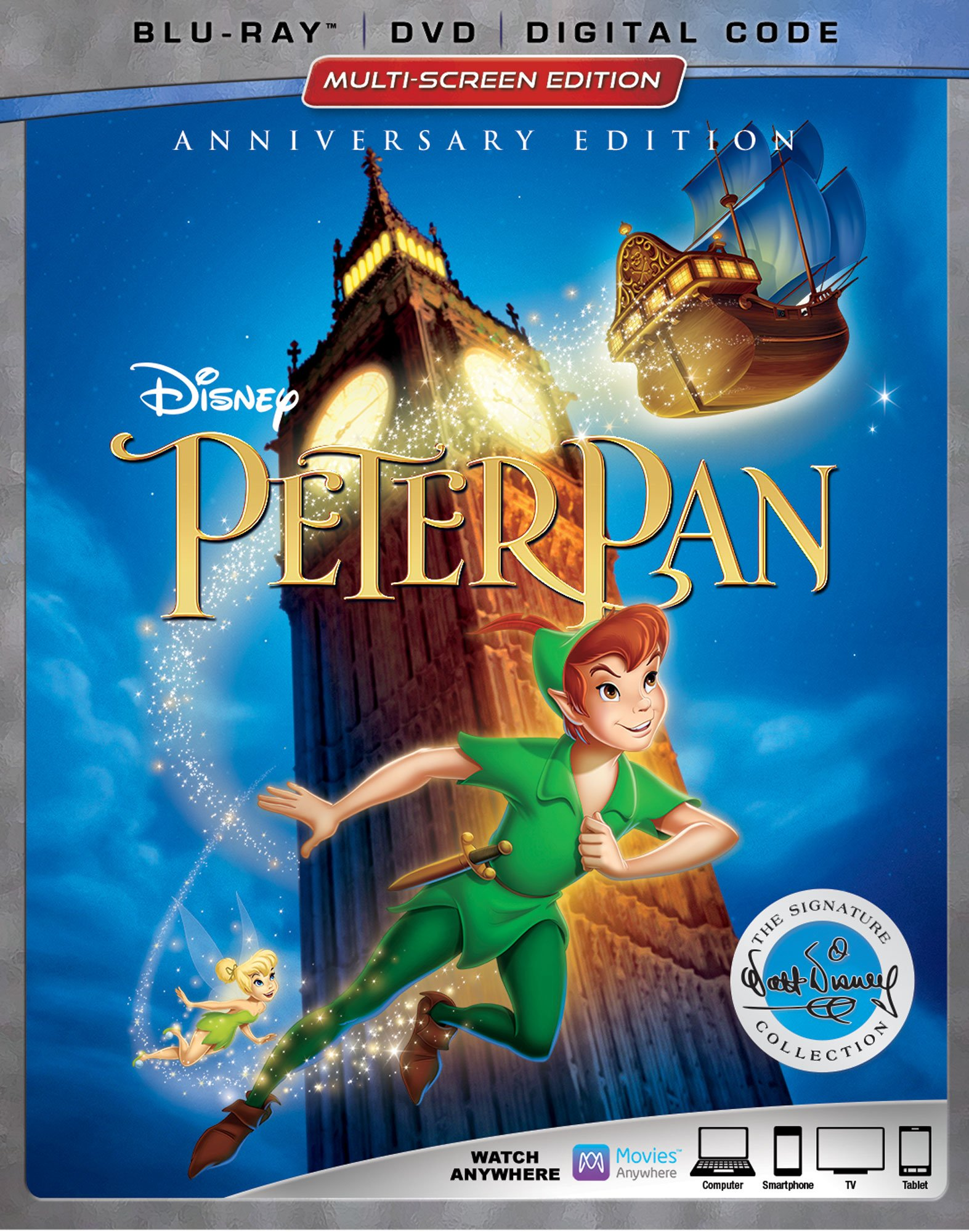 Blu-ray : Peter Pan Signature Collection (With DVD, Digital Theater System, Dolby, AC-3, Subtitled)