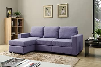 NHI Express Alexandra Convertible Sectional Sofa Blue : convertible sectional sofa - Sectionals, Sofas & Couches