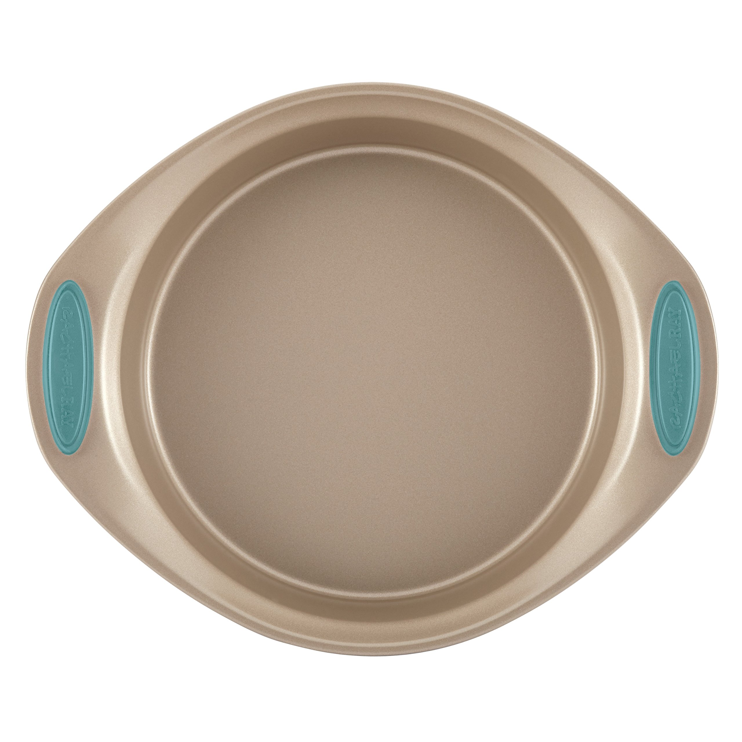 Rachael Ray Nonstick Bakeware 5-Piece Set, Latte Brown with Agave Blue Handle Grips by Rachael Ray (Image #4)