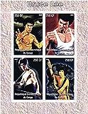 Bruce Lee 4 lutte pose - Monnaie et neuf timbre feuillet