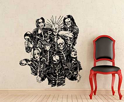 Amazon.com: Slipknot Wall Decal Rock Band Members Masks Music Studio ...