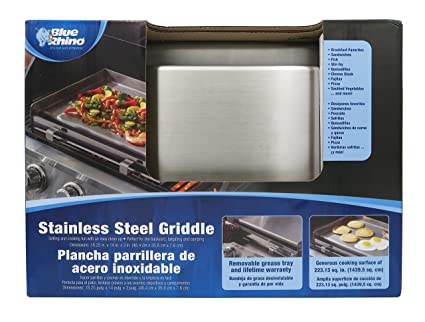 Amazon.com : Mr. BBQ Portable Stainless Steel BBQ Griddle - Attach ...