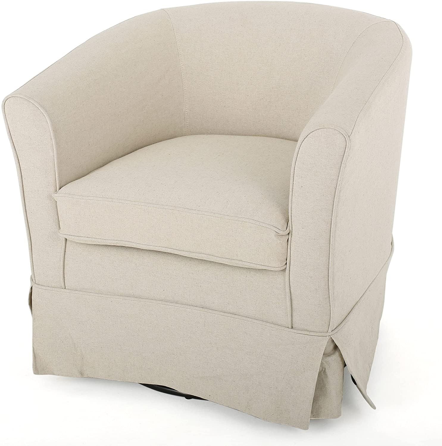 Barrel chair with loose slipcover from Christopher Knight