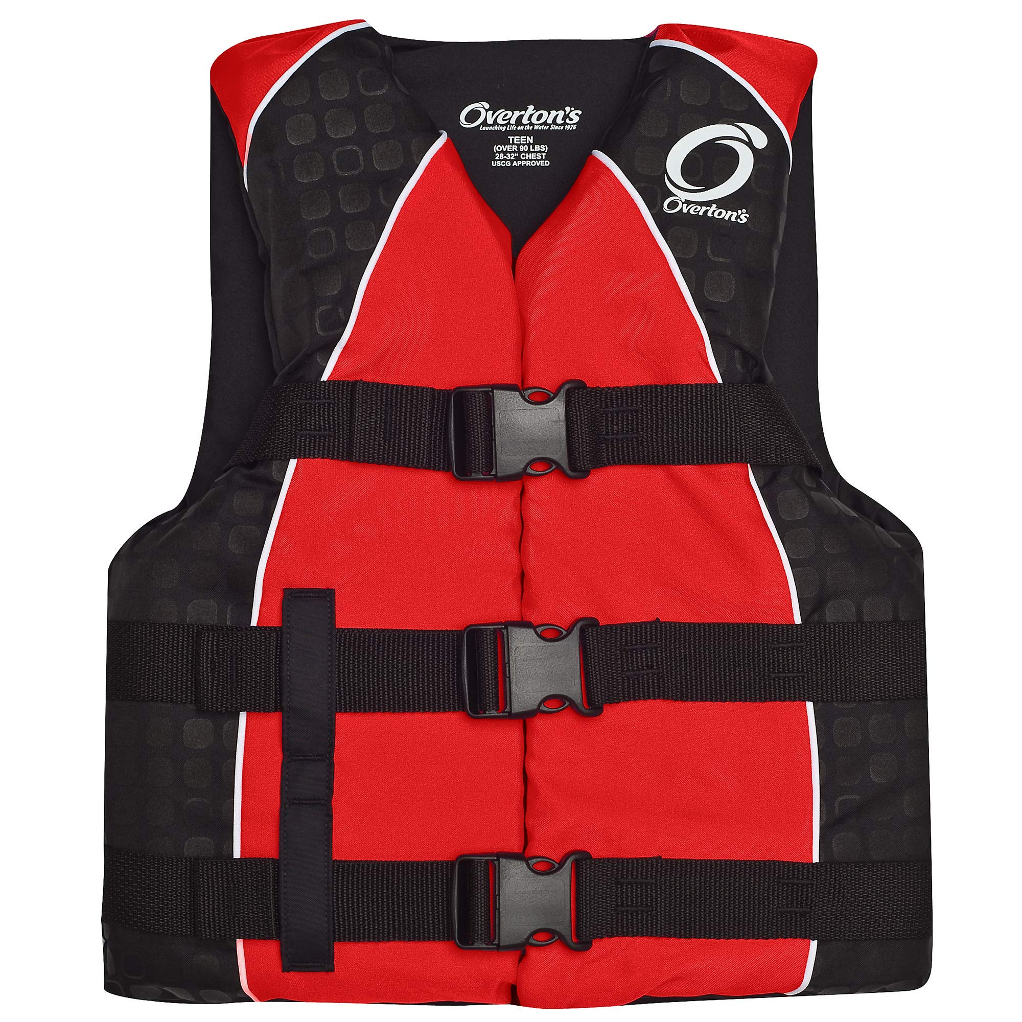 Overton's 3-Buckle Teen Nylon Vest Red (Teen) by Overton's