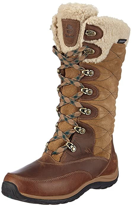 Timberland Willowood Ftp_Ek Willowood Wp Ins - Botas de nieve de cuero mujer, Brown,