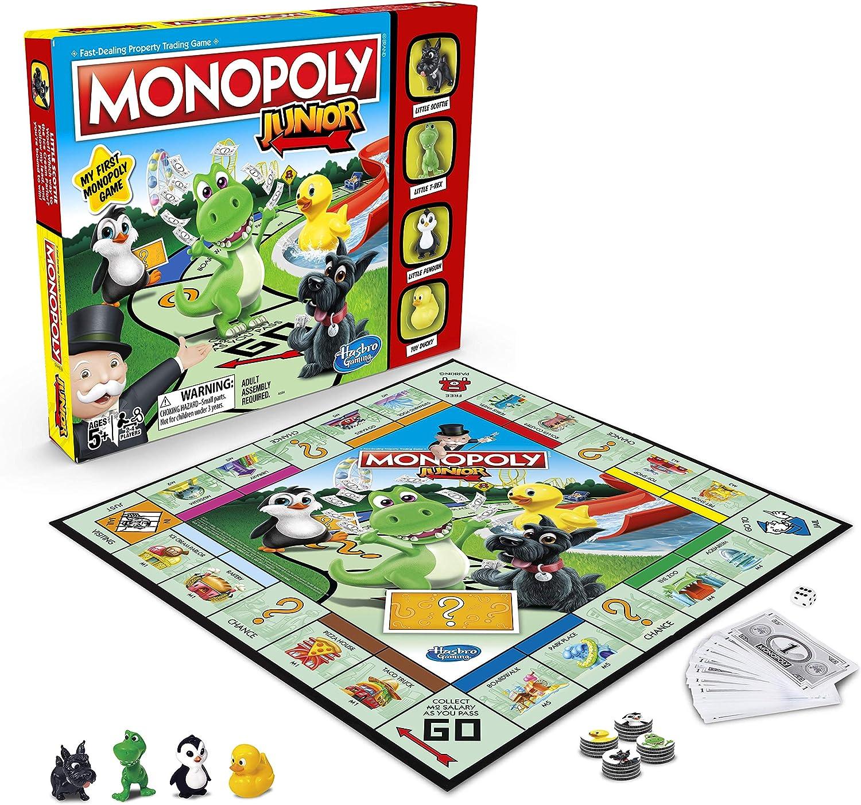 Monopoly Juego de Mesa Junior (en inglés): Amazon.es: Juguetes y juegos