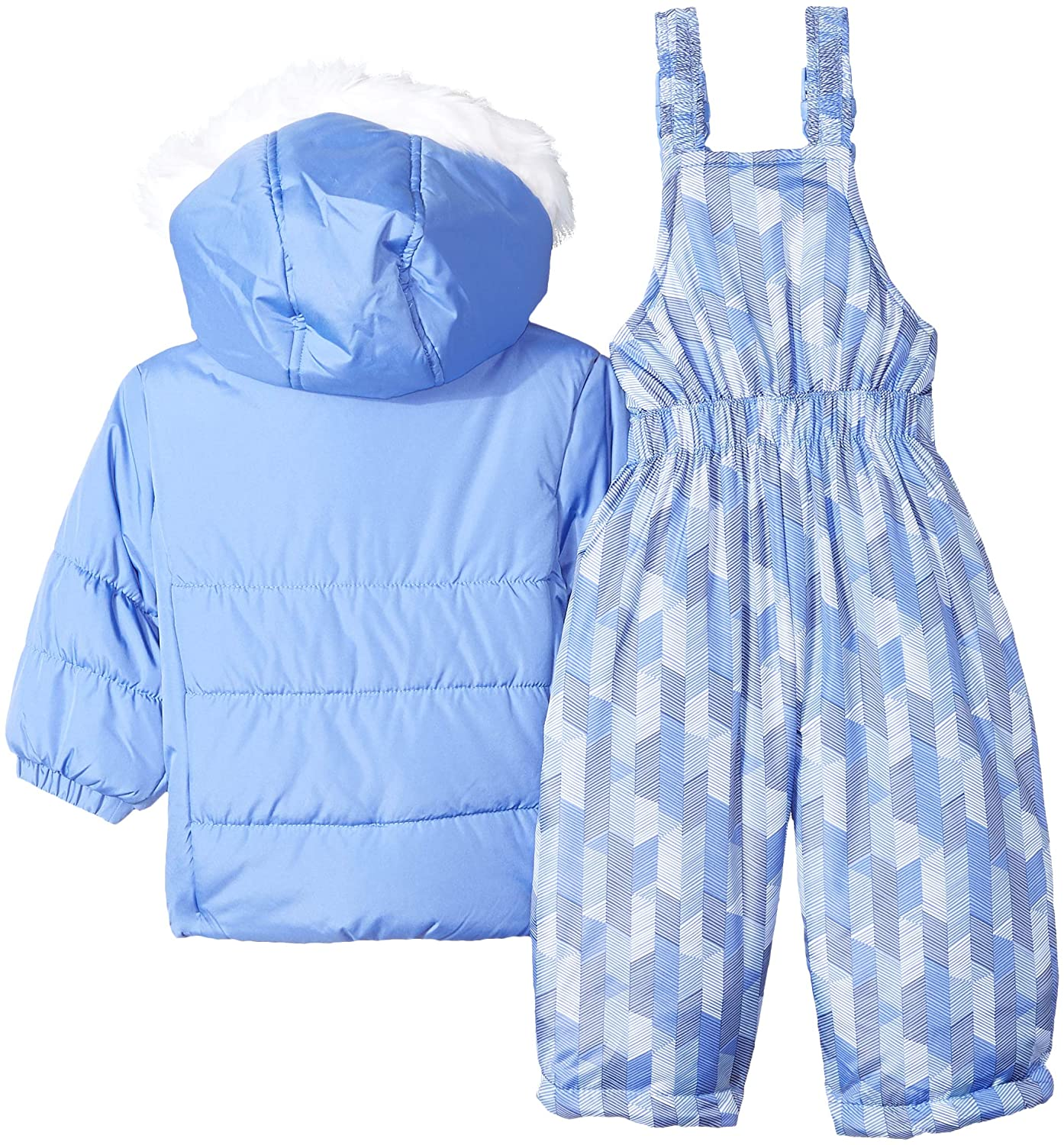 0b1eed11aa2e Amazon.com  London Fog Baby Girls  Snowsuit with Snowbib and Puffer ...
