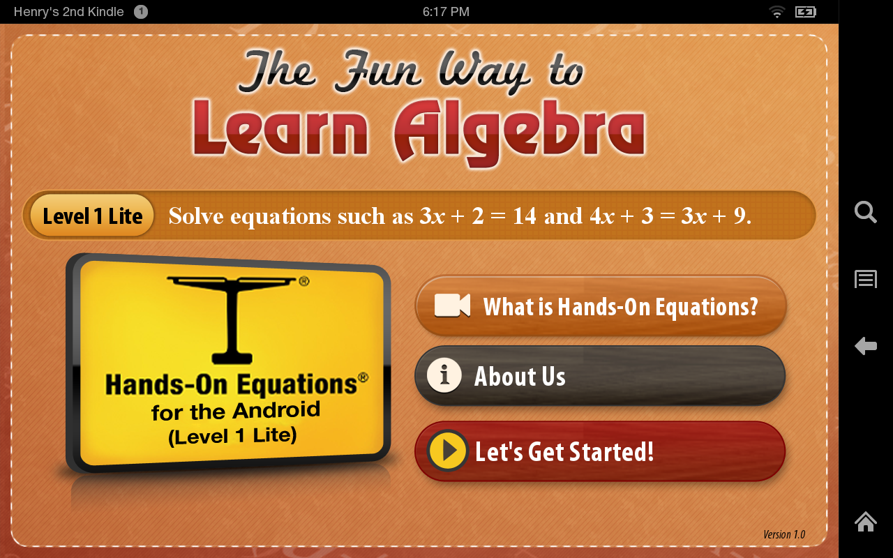 Amazon.com: The Fun Way to Learn Algebra: Appstore for Android