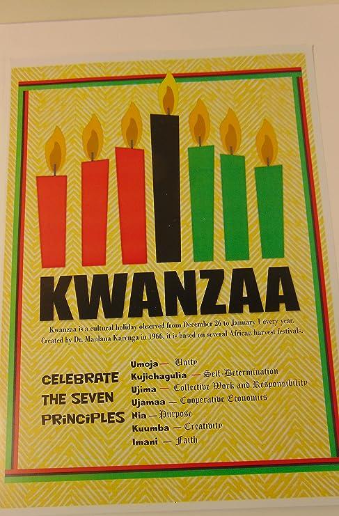 Amazon Com Kwanzaa Poster Seven 7 Principles Of Kwanzaa Small 12 X 8 Print 2 Everything Else