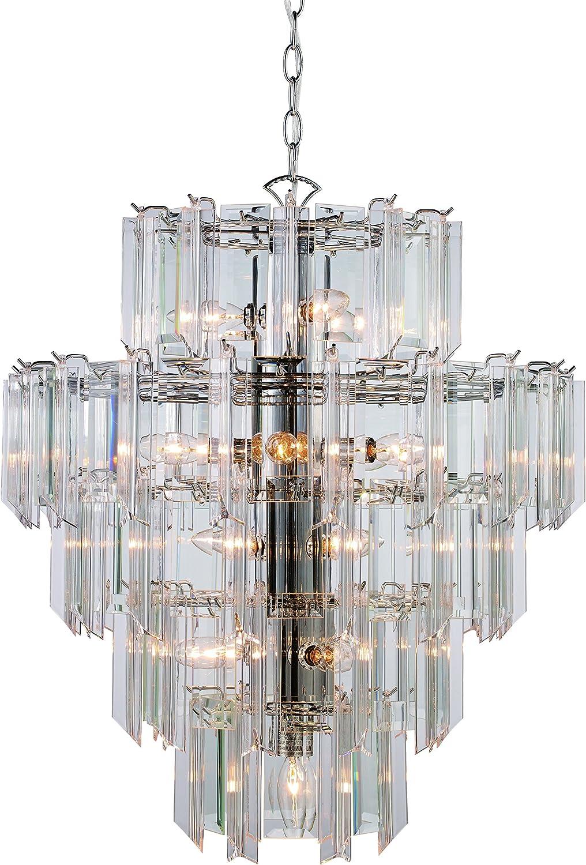 Polished Chrome Trans Globe Lighting 7164 PC Indoor Tranquility 19 Pendant