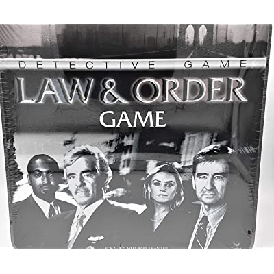 Cardinal Industries Law and Order Game in a Tin: Toys & Games