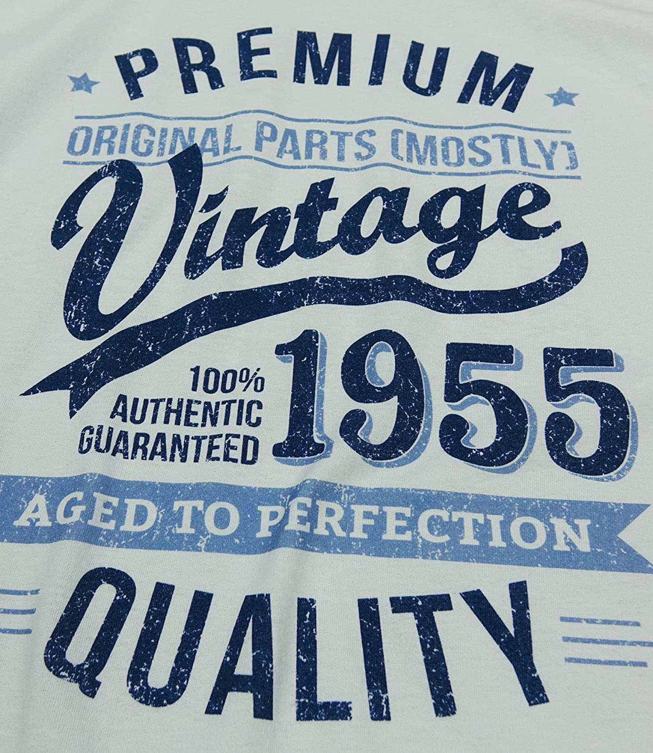 Aged To Perfection Regalo di Compleanno per 65 Anni Uomo Grembiuli Beige My Generation Gifts 1955 Vintage Year
