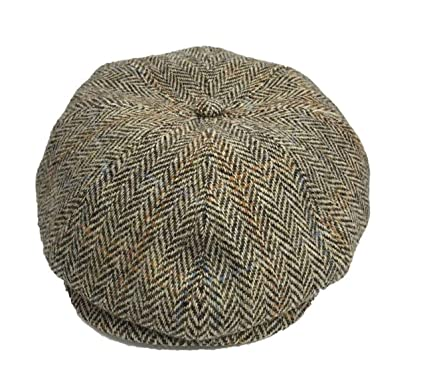 5de1536c15f Harris Tweed 100% Wool Authentic 8-Panel Newsboy Cap  Amazon.co.uk ...