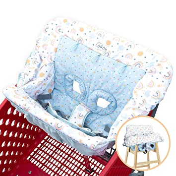 High Chair /& Cushy Cart Covers for Baby-White Baby Shopping Cart Covers