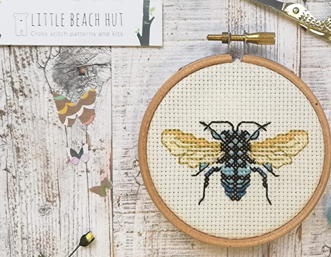 Fly Cross Stitch Kit Insect Gift Easy Embroidery Pattern Card