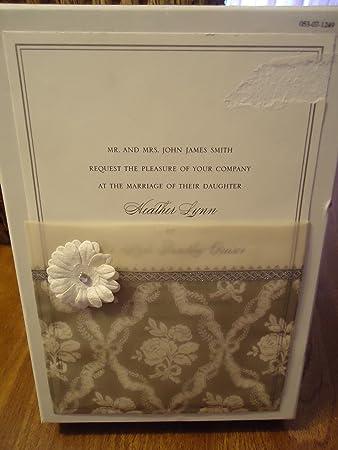 Amazon anna griffin tw149 grey vellum pocket with flower formal anna griffin tw149 grey vellum pocket with flower formal wedding invitation set box of 25 stopboris Images