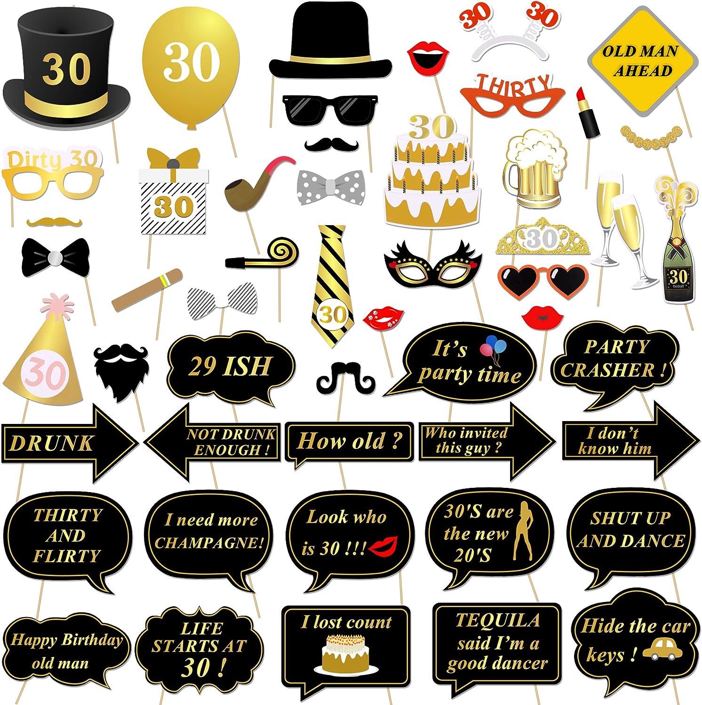 Amazon.com: Konsait accesorios de Photo Booth para fiesta de ...