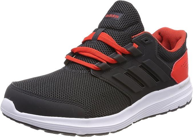 adidas Galaxy 4 m, Zapatillas de Running para Hombre, Negro (Carbon/Carbon/Hi-Res Red 0), 44 2/3 EU: Amazon.es: Zapatos y complementos