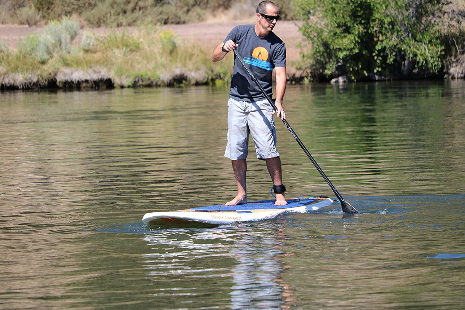 Amazon.com : Stand on Liquid Beachwood LT 11 Foot All Around (Surf) Stand Up Paddle Board (SUP) Package | Includes Fiberglass Adjustable Paddle, Cargo Net, ...