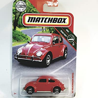 Matchbox Limited Road Trip 1962 Red Volkswagen Beetle VW 1/64 S Scale Car Diecast: Toys & Games