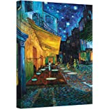ArtWall Cafe Terrace at Night by Vincent Van Gogh Gallery Wrapped Canvas Art, 36 by 48-Inch