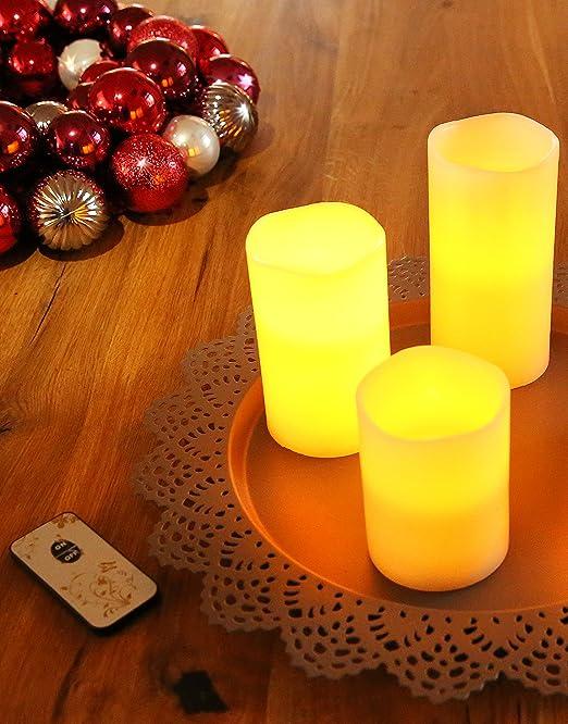 LED Kerzen stimmungsvolle Echtwachskerzen Wachskerzen mit Fernbedienung einzeln