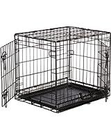 AmazonBasics Double-Door Folding Metal Dog Crate - Small