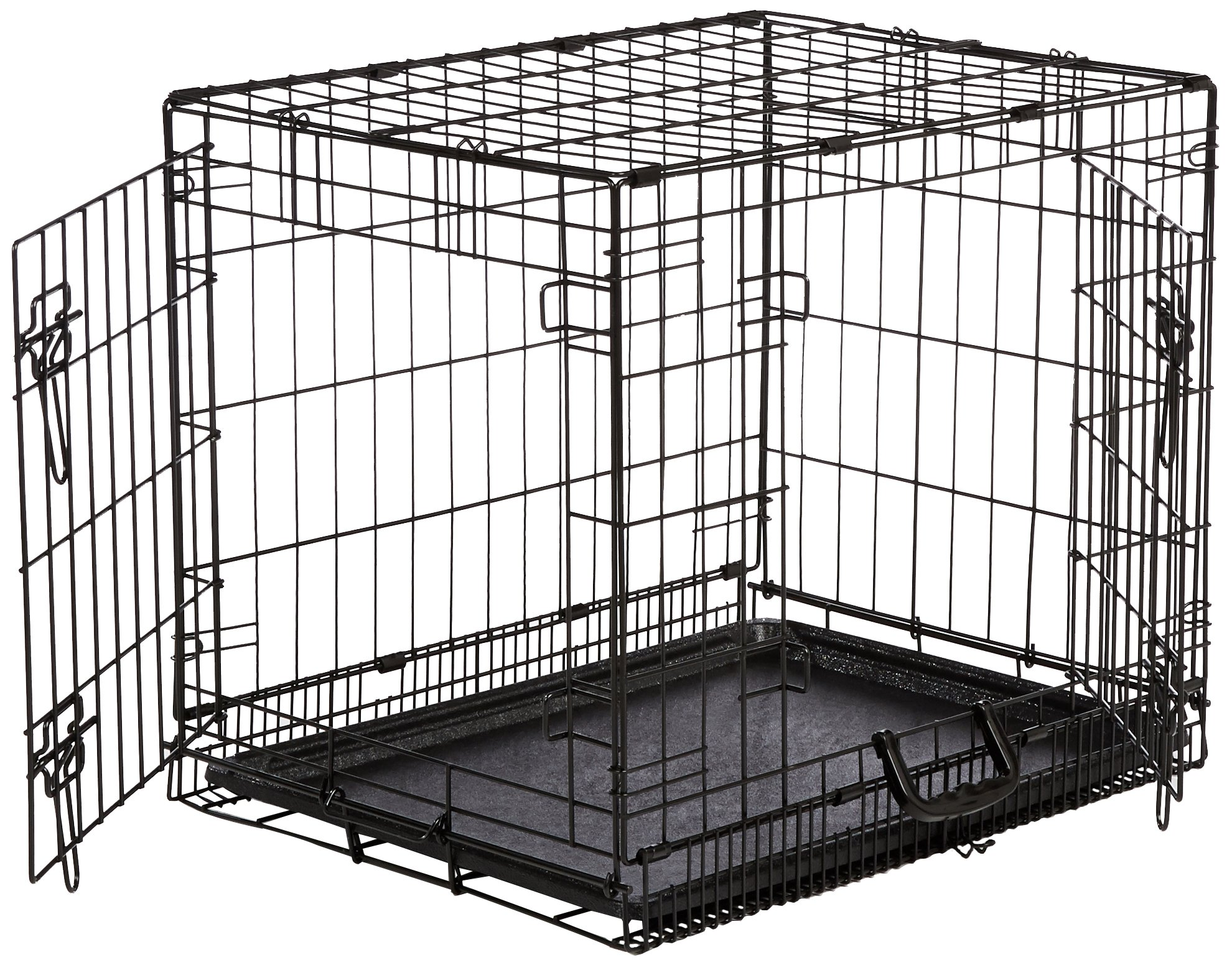 AmazonBasics Folding Metal Dog Crate Double-Door 24 in