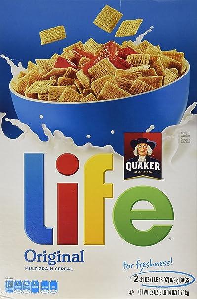 Quaker vida toda cereales grano Quaker Oats Cereal 2 Paquete de 31oz