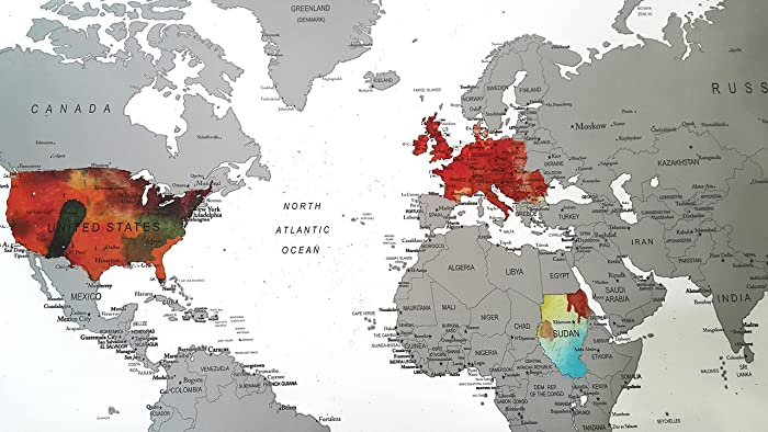 Amazon.com: World Map Scratch Off Poster with US States and Country ...
