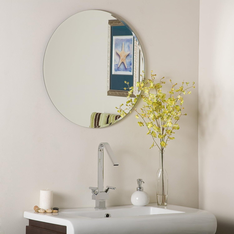 Decor Wonderland Frameless Round Beveled Mirror