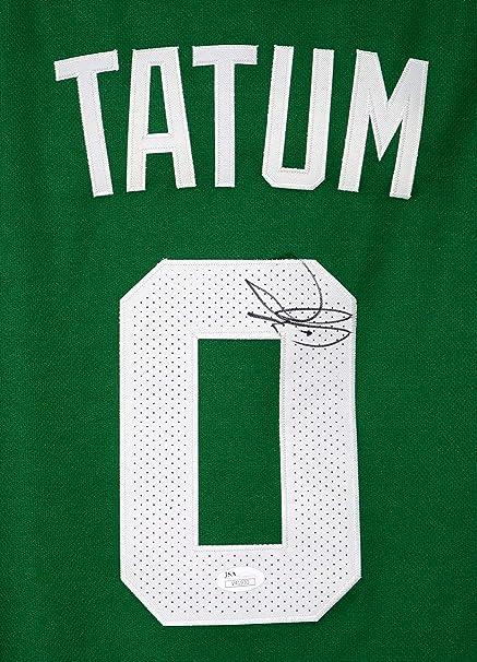 Jayson Tatum Boston Celtics Signed Autographed Green  0 Jersey Size 52 JSA  COA 9b0a0da32