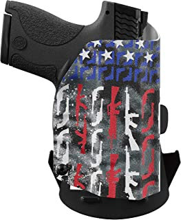 product image for We The People Holsters - Gun Flag - Outside Waistband Concealed Carry - OWB Kydex Holster - Adjustable Ride/Cant/Retention