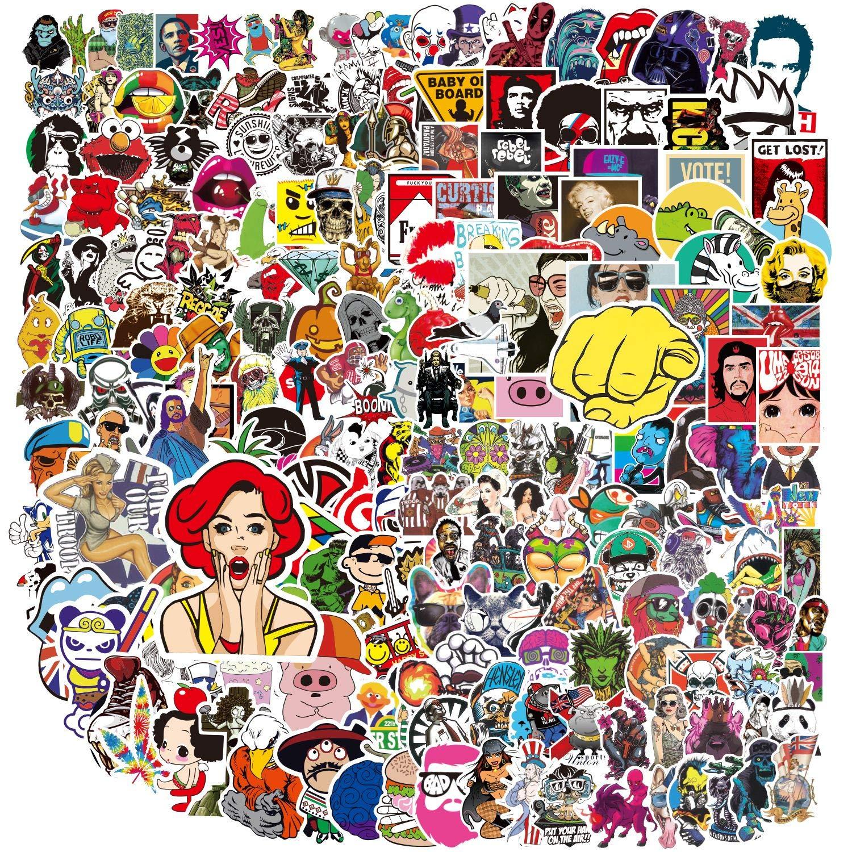 400 PCS Sticker Pack, Vinyl Kawaii Sticker Aufkleber für Laptop,Wasserflaschen,Gepäck,Skateboard,PS4,Xbox One,Phone,Car Erwachsene,Teenager,Jungen und Mädchen-wasserdicht Bild