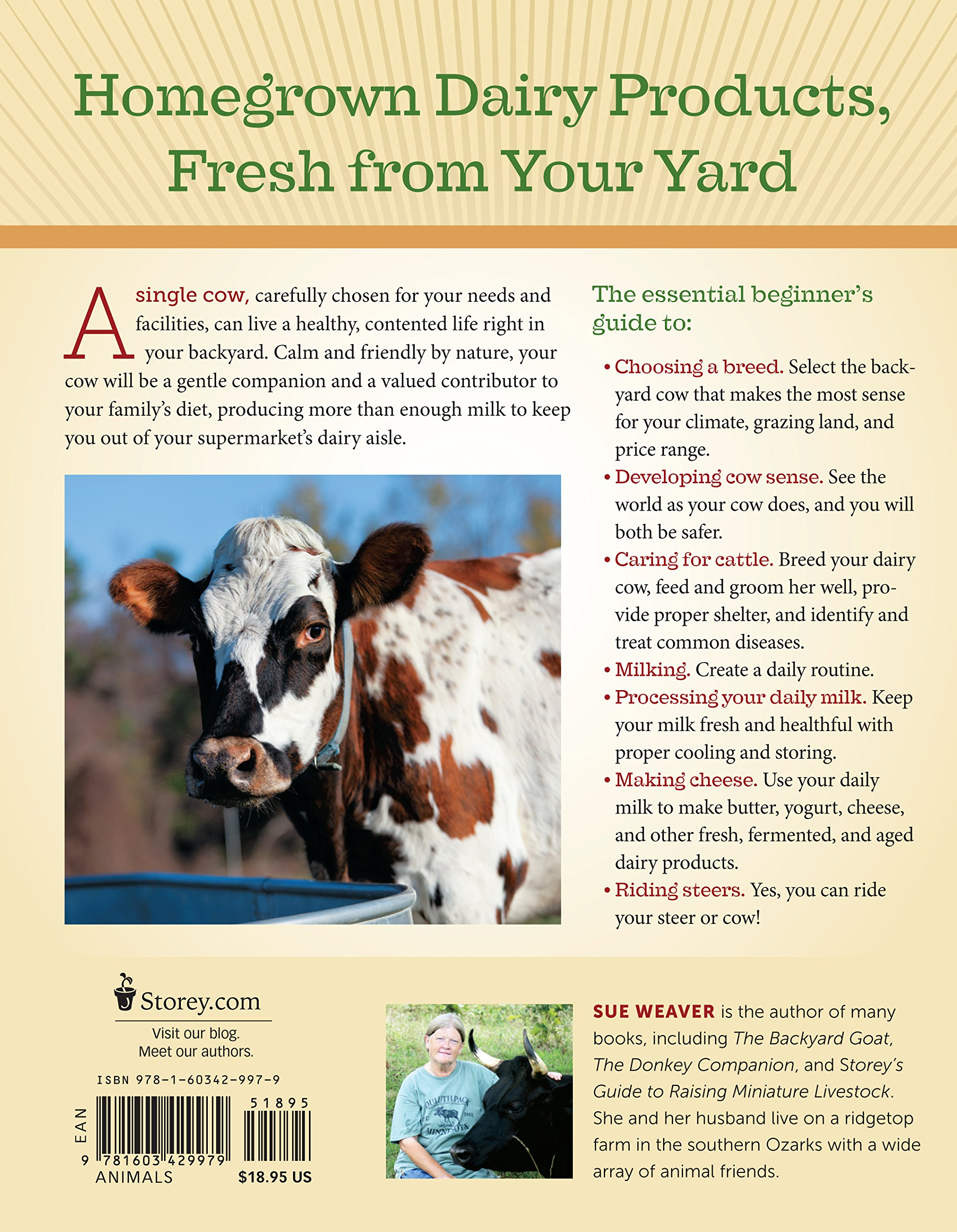 the backyard cow an introductory guide to keeping a productive