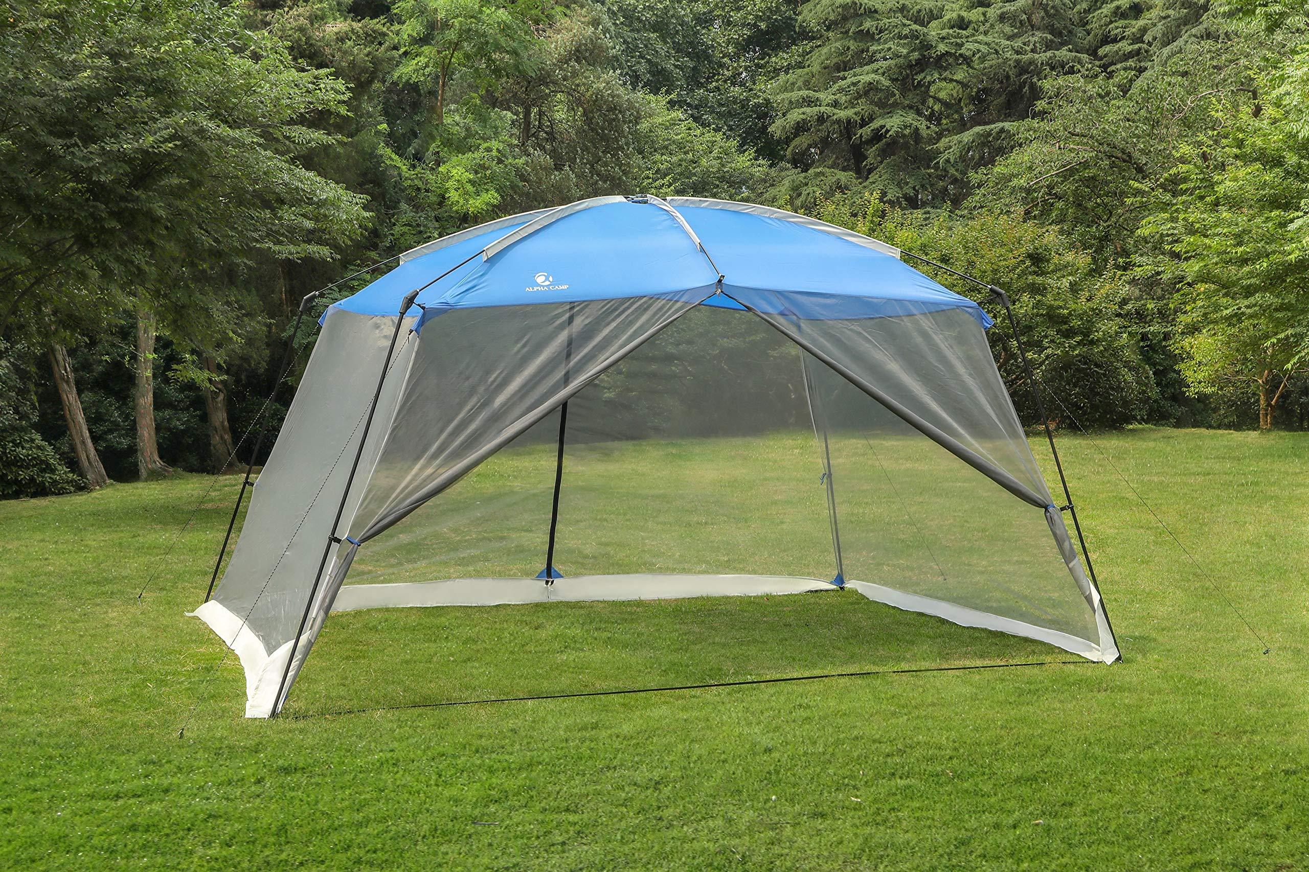 ALPHA CAMP Screen House Tent Easy Setup Canopy - 13'X9', Blue by ALPHA CAMP