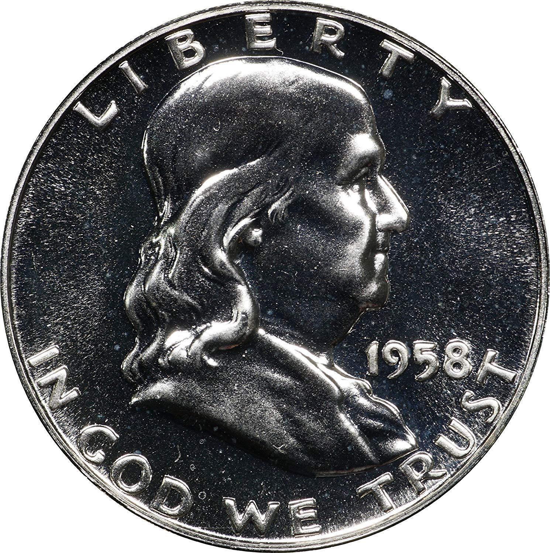 60th Birthday Gift 1958 Birth year 5-coin circulated set 90/% Silver
