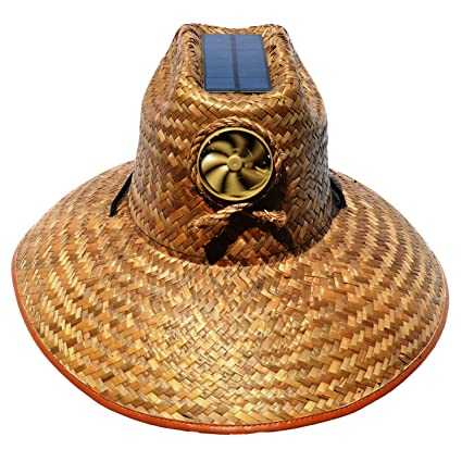 26dd5904186af Amazon.com  Cooling Sun Straw Solar Unisex Palm Leaf Thurman Hat w o ...