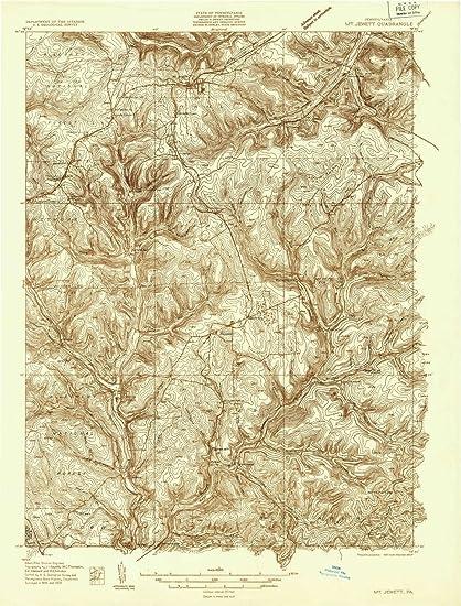 Amazon Com Yellowmaps Mt Jewett Pa Topo Map 1 48000 Scale 15 X