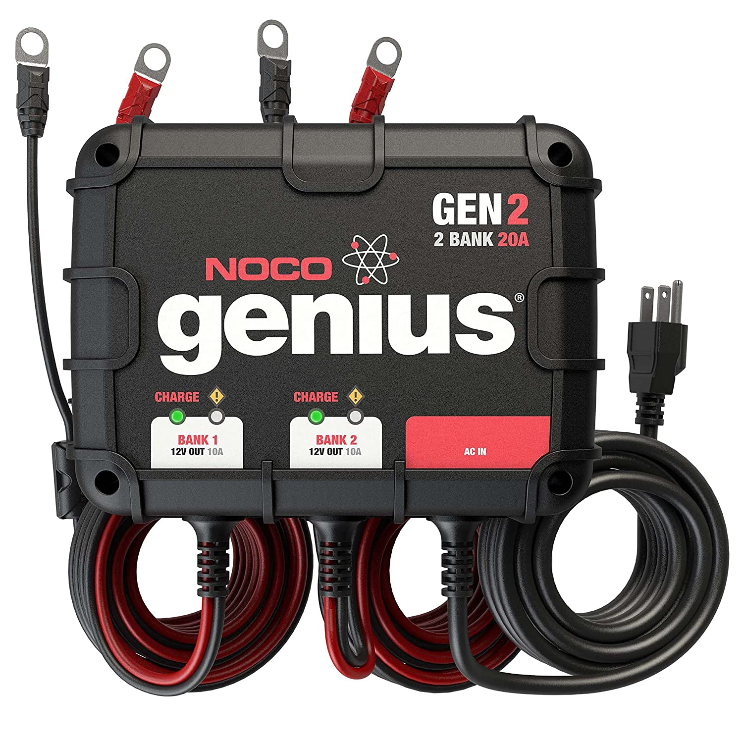 f9873e1849bb Amazon.com: NOCO Genius GEN2 20 Amp 2-Bank On-Board Battery Charger:  Automotive
