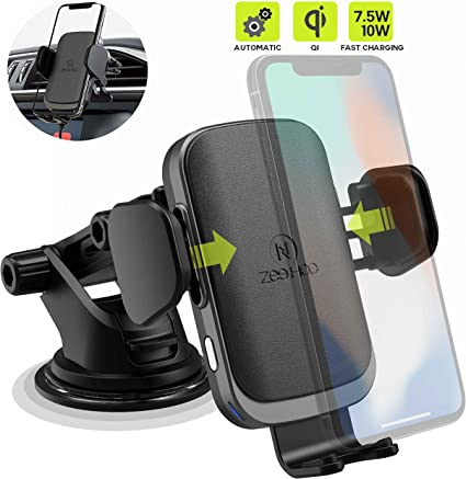 Wireless Car Charger Mount 10W Fast Wireless Charger Auto-Clamping Air Vent Phone Holder