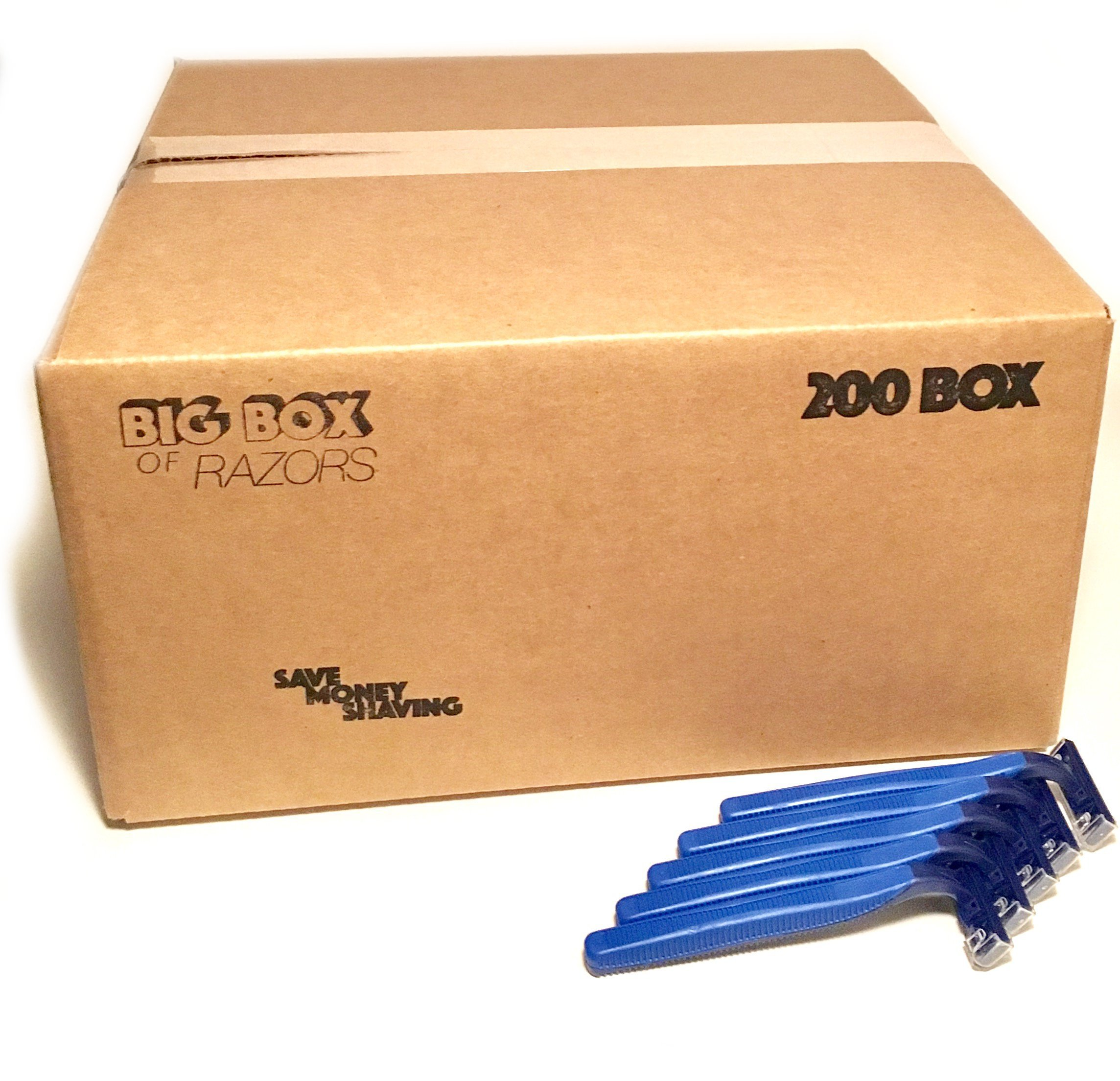 200 Box of Quality Bulk Wholesale Disposable Twin Blade Razors for Men and Women