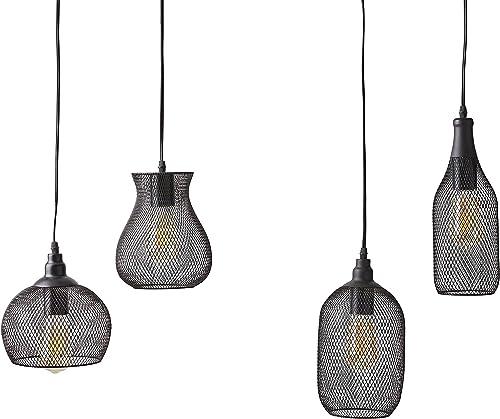 Amazon Brand Stone Beam Mesh 4-Light Pendant Chandelier
