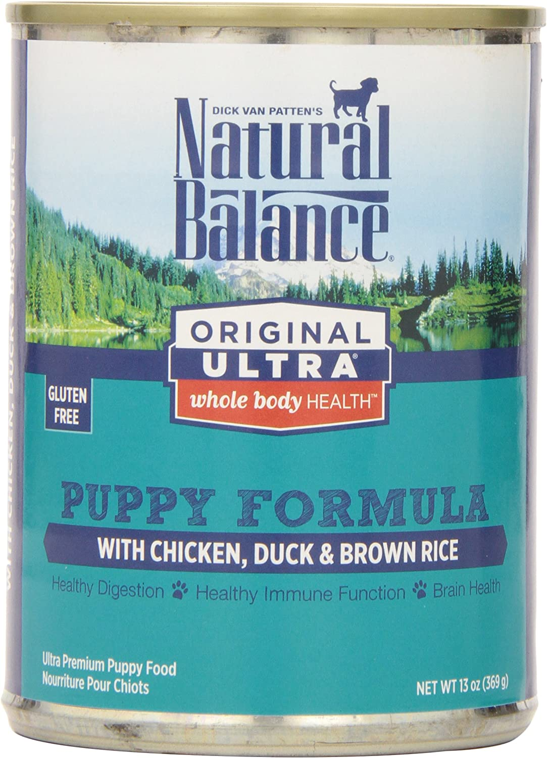Natural Balance Original Ultra Whole Body Health Chicken Duck Brown Rice Canned Puppy Dog Food